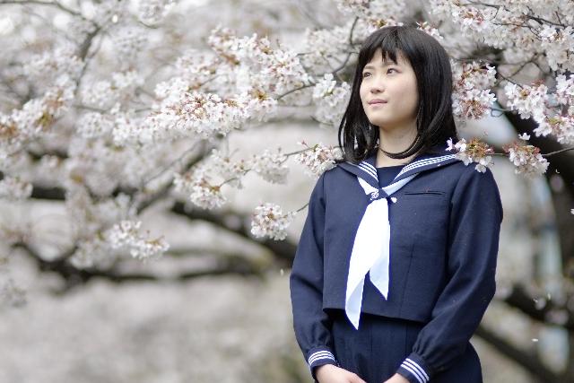 桜と新入生