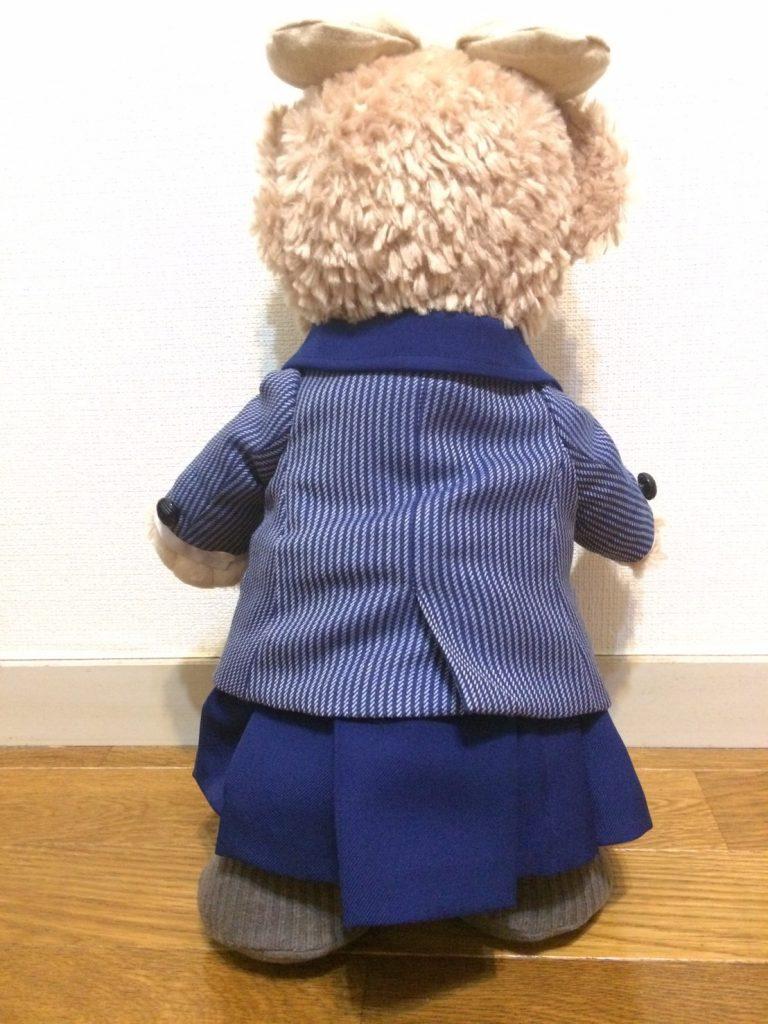 ストライプ柄のミニチュアブレザー制服
