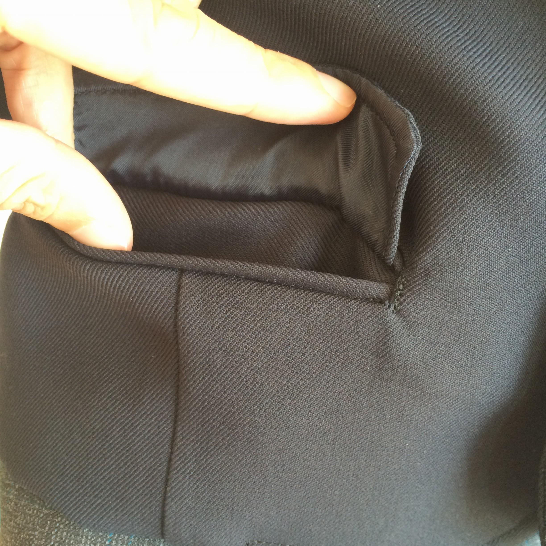 ミニチュア制服ズボンのポケット