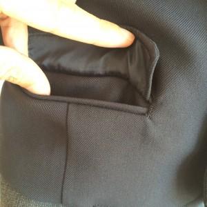 制服ズボンのあまぶた付きポケット