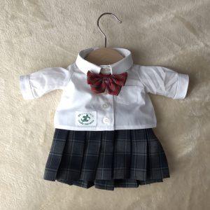ブラウスタイプのミニチュア制服